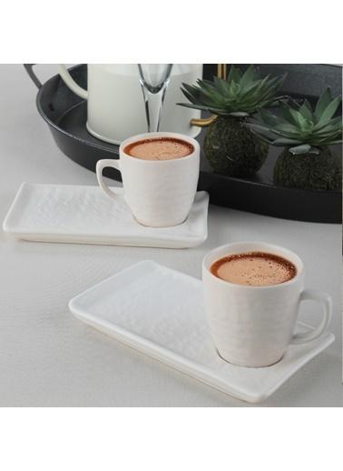 Keramika Keramika 2 Kişilik Mat Doğaltaş Kırık Kahve Sunum Seti Renkli